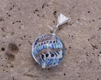 Glass Lampwork bead pendant