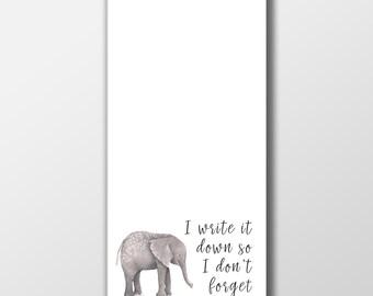Elephant Notepad ~ Elephant Stationary ~ To Do List ~ Stationary ~ Elephant Notepad ~ Gift for Friend