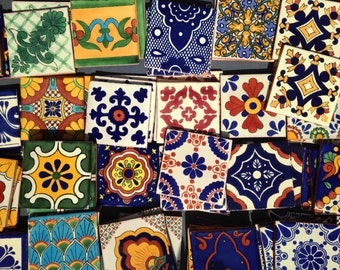 Grab Bag: Set of 4 Spanish or Mexican Tile Coasters