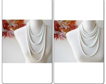 Pearl Statement Necklace, Multi Strand Pearl Necklace, Multistrand Pearl Necklace, Layered Pearl Necklace, Pearl Bridal Necklace