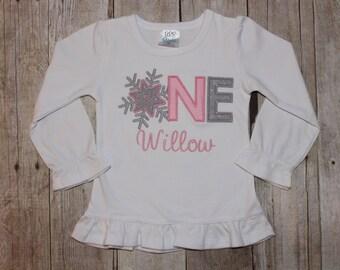 Winter Onederland First Birthday Shirt Winter Wonderland
