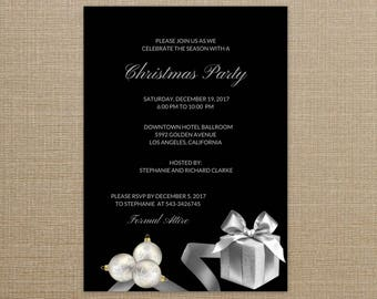 christmas party invitations elegant christmas party invitations holiday party invitations elegant christmas invitations