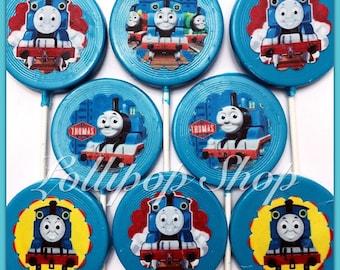 12 Train Tank Engine Chocolate Candy Lollipops (Birthday party favors train party favors train candy table happy train thomas train)  sc 1 st  Etsy & Thomas train party | Etsy
