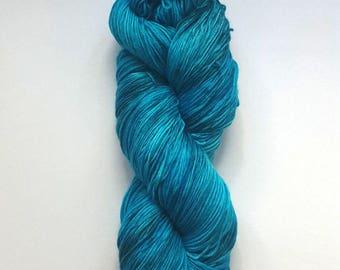 Hand Dyed Sock Yarn [Nocturnal Sock] [Poseidon] Blue Hand Dyed Sock Yarn