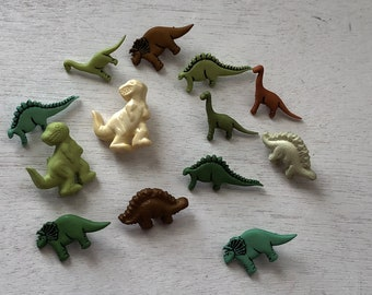 """Dinosaur Buttons, Novelty Button Assortment Package by Buttons Galore, """"Dinosaurs"""" Style 4081, Shank Back Buttons, Crafting, Sewing"""