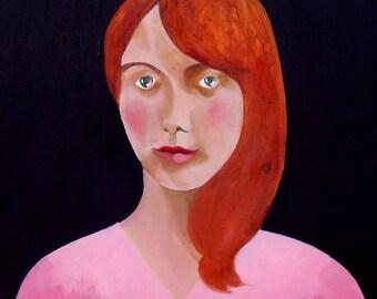 Original Art Magnet - Gothic - Redhead - Macabre - Victorian