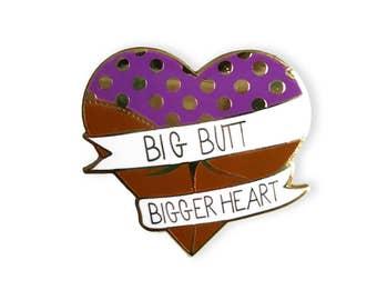 Big Butt Bigger Heart Enamel Pin Brown - Michael Scott The Office