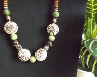 African Inspired Beaded Necklace