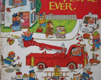 Richard Scarry's Busiest People Ever 1976 Vintage Book