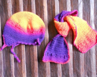 Hat and scarf crochet baby