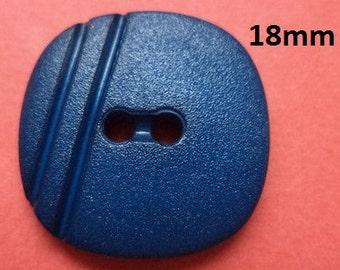 12 buttons Dark blue 18 mm (1365) button