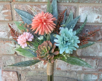 Autumn Mint Succulent Bouquet