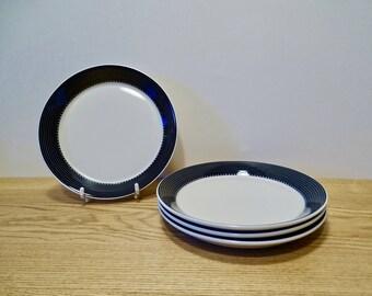 4 vintage desert plates - Arabia Finland