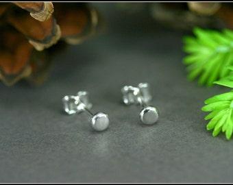 Be possible to order 3 earrings, Silver stud earring, Tiny silver stud, Tiny silver earring, Silver minimalist stud, Silver dot earring