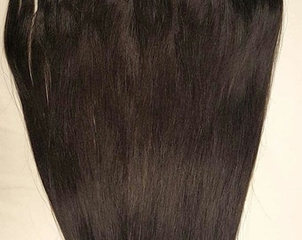"18"" Weft Hair, 100grs,Weft Weaving (Without Clips),100% Human Hair Extensions #1B Off Black"