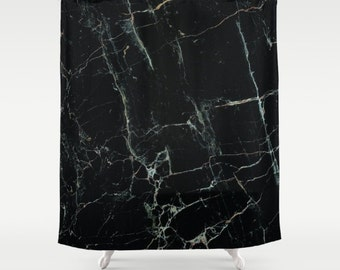 Black Marble Shower Curtain Mens Bathroom Shower Curtain Black Marble Bathroom Girls Shower Curtain Marble Pattern Marble Print Modern
