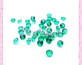 50 4.5 mm REF873 green acrylic rhinestones