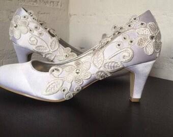 Tulip (bridal wedding low heel shoes)