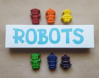 Robot Crayons ~ Rainbow Crayons ~ Crayon Set ~ Kids Gift ~ Robot Party ~ Party Favor ~ Novelty Crayons ~ Valentine's Gift ~