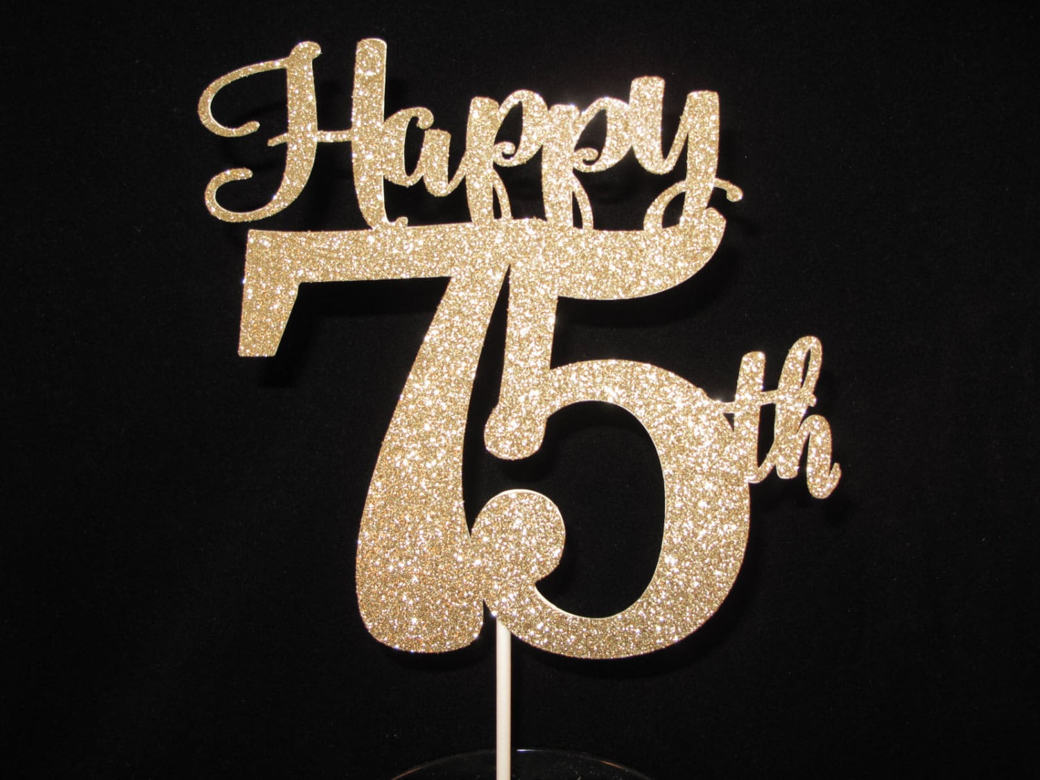 75th birthday cake topper happy 75th 75 cake topper gold zoom biocorpaavc