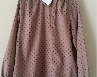 Last Chance SALE! Levi's Women's Long Sleeve Blouse Tan Button Up Size 38