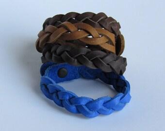 Braided Bracelet/Lether Bracelet/Rugged bracelet/Small gift for her/Gift under 10 dollars/