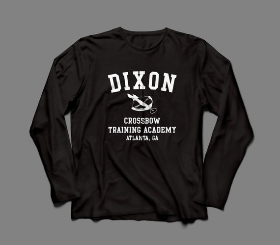 "The Walking Dead ""Dixon Crossbow Training Academy""  Long Sleeve Shirt S-4XL Available TWD"