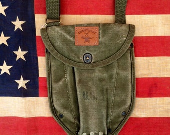 WWII Trench Shovel Cover Cross-Body Pouch