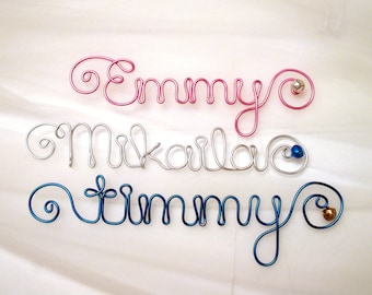 Wire Name Ornament, Custom Personalized Christmas Gift