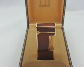 Distinguished Dunhill Gemline Gold Plated & Tortoishell Laquer Lighter Feuerzeug