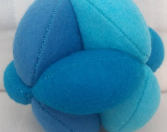 Blue Puzzle Ball