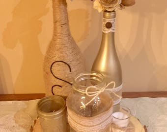 Wine Bottle / Mason Jar Centerpieces