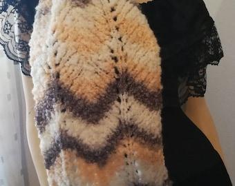 Scarf, unisex, Bouclé yarn