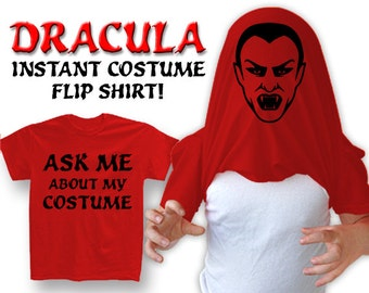 "New ""Ask Me About My Costume - Dracula"" Unisex T-shirt for Halloween, Birthday, Party, Gift, Present, Mens, Womens, Children, Youth S-2xl"