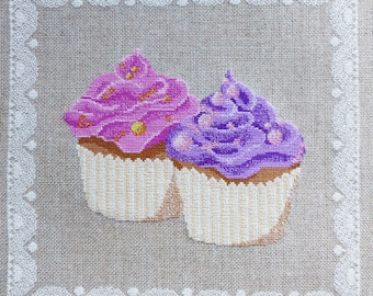 Cupcake CM 1302 duo embroidery chart