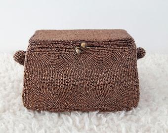Vintage Josef Beaded Box Purse | Vintage Box Purse | Vintage Beaded Purse | 1940's Purse |