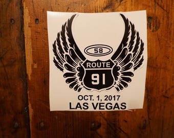 Route 91 Harvest Sticker Original