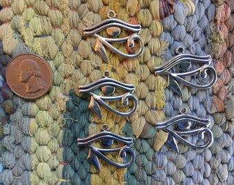 20 Pieces Antique Silver Eye of Horus Charms or Pendants