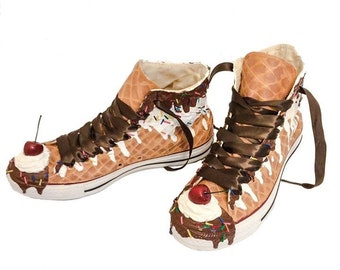 Ice Cream Custom Converse Sundae Shoes As Seen on Talk Stoop