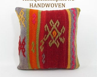 Kilim Pillow Home Decor Rug Pillow Vintage Throw Pillow Cover Decorative  Pillow Mothers Day Gift For