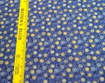 Rodeo Roundup-Stars on Blue Cotton Fabric from Northcott Studios