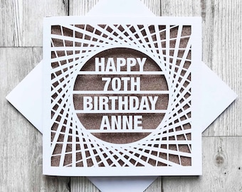 70th birthday card etsy personalised happy 70th birthday happy 70th 70th birthday cards laser cut birthday bookmarktalkfo Image collections