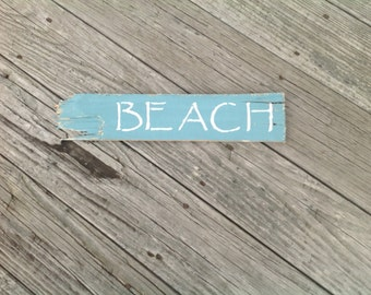 Beach Sign, Coastal, Nautical, Beachy, Shells, Starfish, Whales