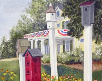 "Original Artwork - ""Harmon's Corner"" (16"" x 20"" Canvas Print) From Original Oil Painting"
