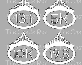 Race Decals - runDisney Princess