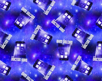 Dr Who The Tardis Fleece by the yard
