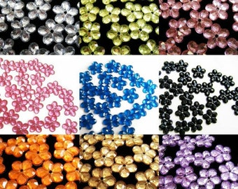 100 pcs Floral Sew on Rhinestones - Color of your choice