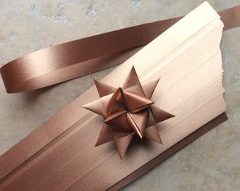 Paper Strips to make 3D Stars (Moravian Froebel Quilling Weaving) Copper Sheen 1 in