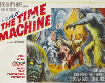 The Time Machine reproduction poster print