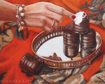 Original Acrylic Painting // Just one Bite // Still Life Painting // Wall Art // 18 cm x 24 cm // Cynthia Katz